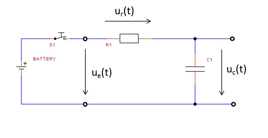 Differentialgleichung Kondensatorspannung: Schaltung