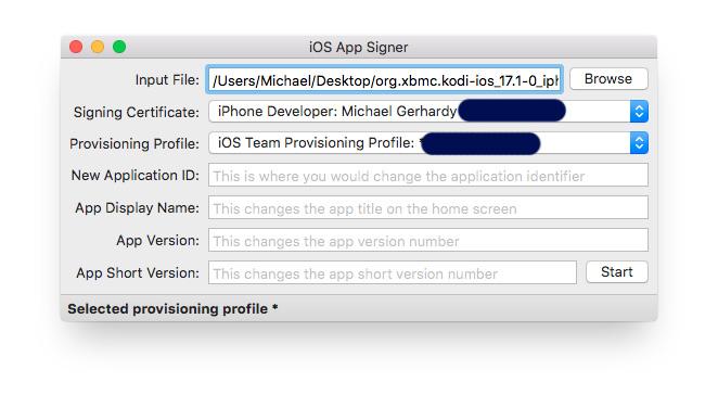 Modi auf iOS Geräten: iOS App Signer