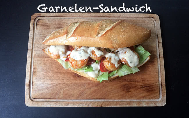 Garnelen-Sandwich mit Remoulade