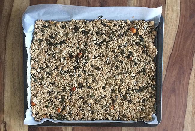 Granola auf Backblech