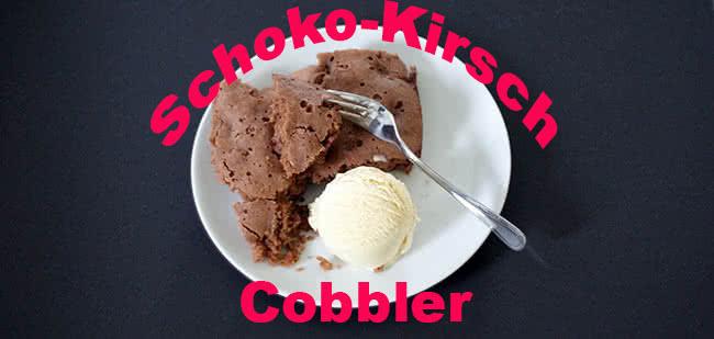Schoko-Kirsch-Cobbler aus dem Dutch Oven