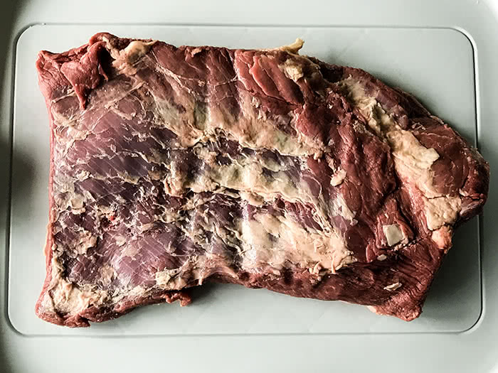 Beef Brisket vor dem Smoken