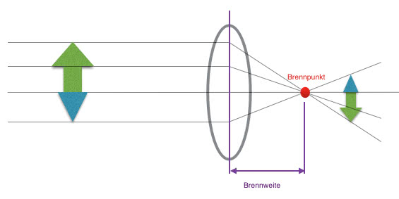 Brennweite : die Physik