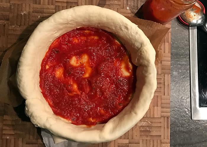 herzhafte Kuchen - Pizzatorte - erste_Lage