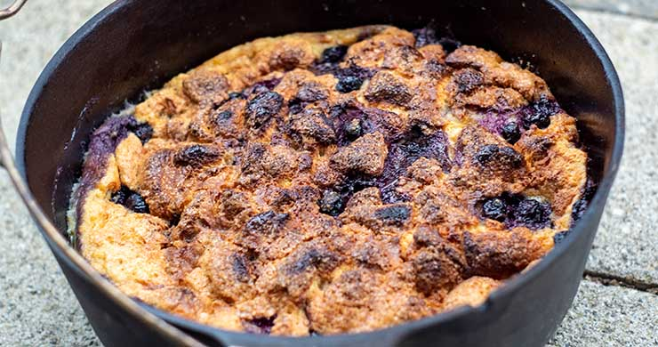 Bread Pudding im Dutch Oven
