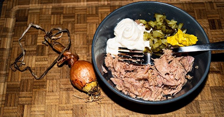 Thunfisch-Sandwich: die Zutaten