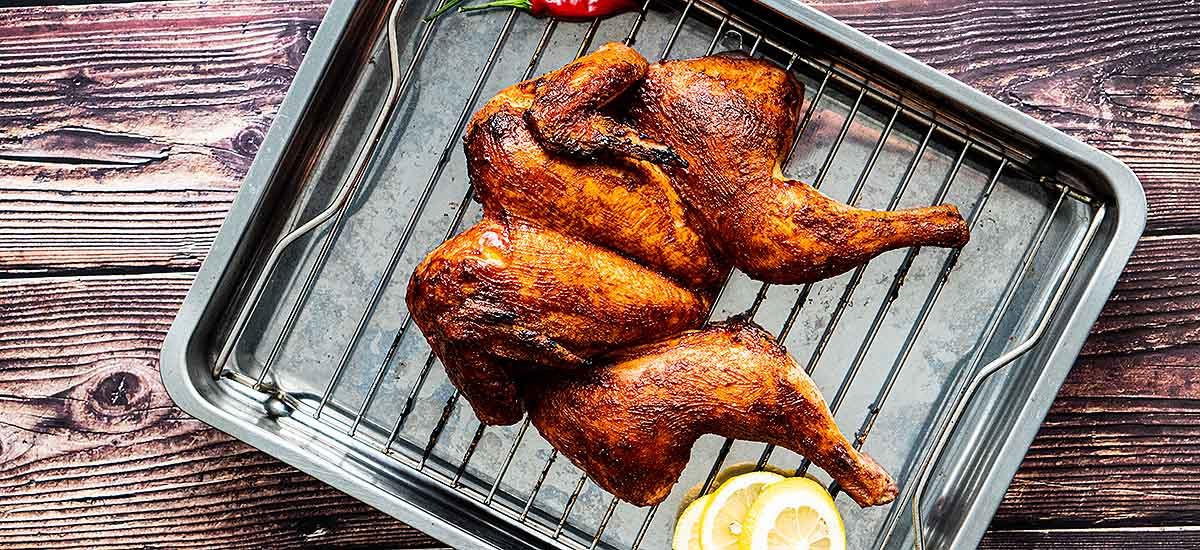 Road Kill Chicken vom Smoker